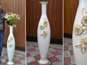 Делаем высокую напольную вазу 110 см. Ярмарка Мастеров - ручная работа, handmade.