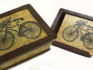 Redecorating Cardboard Box / Papier-mache. Livemaster - handmade