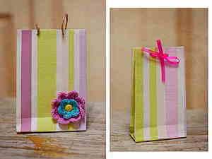 Делаем сами симпатичные полосатые пакетики. Ярмарка Мастеров - ручная работа, handmade.