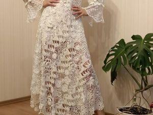 Платья: Ирландское кружево Платье вязаное крючком. Ярмарка Мастеров - ручная работа, handmade.