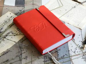Яркий и смелый красный блокнот Арно. Ярмарка Мастеров - ручная работа, handmade.