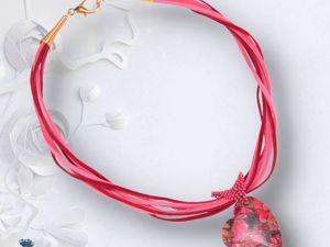 Создаем колье с кулоном Сердце на кожаном шнуре. Ярмарка Мастеров - ручная работа, handmade.