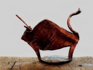 Поделка к Новому году: бык из меди. Ярмарка Мастеров - ручная работа, handmade.