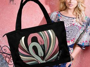 Лебединая песня в розово-серых тонах: стильная сумка. Ярмарка Мастеров - ручная работа, handmade.