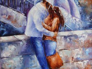 В день Всех Влюбленных картина  «Влюбленные»  со скидкой 25%!. Ярмарка Мастеров - ручная работа, handmade.