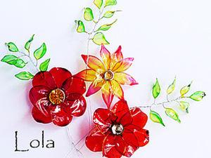 Делаем цветы из Vitriflore. Ярмарка Мастеров - ручная работа, handmade.