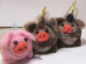 Свинки и Кабанчики валяные из шерсти — последние новинки в этом году. Ярмарка Мастеров - ручная работа, handmade.