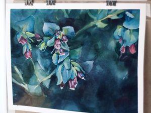 Пишем цветы акварелью Speed painting. Ярмарка Мастеров - ручная работа, handmade.