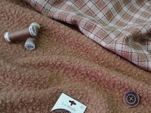 Букле и костюмная ткань. Ярмарка Мастеров - ручная работа, handmade.