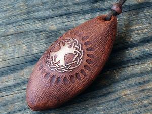 Окарин-кулон  «Этнические мотивы». Ярмарка Мастеров - ручная работа, handmade.
