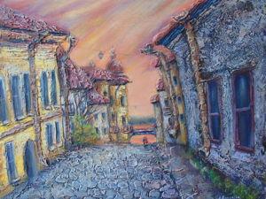 Рисуем объемную картину «Старый город». Видео мастер-класс. Ярмарка Мастеров - ручная работа, handmade.