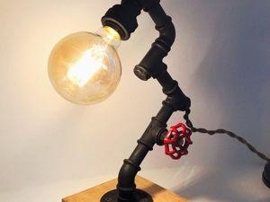 Изготавливаем светильник в стиле лофт с регулятором яркости. Ярмарка Мастеров - ручная работа, handmade.