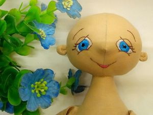 Вышиваем лицо текстильной куколке!. Ярмарка Мастеров - ручная работа, handmade.