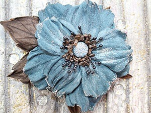 Делаем брошь-цветок из кожи «Тиффани». Ярмарка Мастеров - ручная работа, handmade.