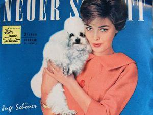 Neuer Schnitt — старый немецкий журнал мод 2/1960. Ярмарка Мастеров - ручная работа, handmade.