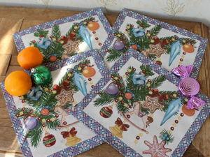 Поможем найти одинаковые подтарельники для новогоднего стола. Ярмарка Мастеров - ручная работа, handmade.