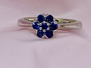 Золотое кольцо с сапфирами 16,5 размер. Ярмарка Мастеров - ручная работа, handmade.