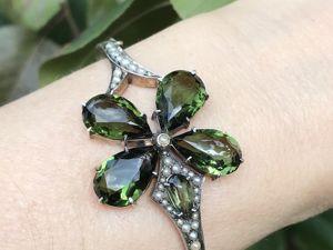 Зеленый цвет в украшениях. Ярмарка Мастеров - ручная работа, handmade.