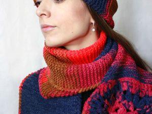 Продолжается распродажа вязаных шапок и шарфов. -50% на готовые работы. Ярмарка Мастеров - ручная работа, handmade.