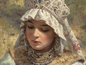 Russian Beauty in the Paintings by Konstantin Makovsky: 44 Charming Portraits. Livemaster - handmade