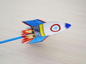 Мастерим с детьми: ракета из бумаги. Ярмарка Мастеров - ручная работа, handmade.