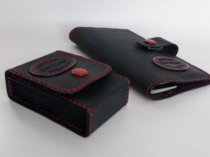 Подарочный кожаный набор 2 предмета. Ярмарка Мастеров - ручная работа, handmade.