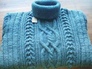 Мужской свитер с косами. Ярмарка Мастеров - ручная работа, handmade.