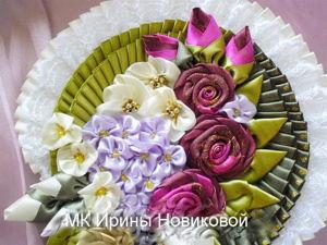 Делаем цветы из атласной ленты. Ярмарка Мастеров - ручная работа, handmade.