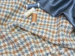 Костюмно-пальтовая ткань из 100% виргинской шерсти. Ярмарка Мастеров - ручная работа, handmade.