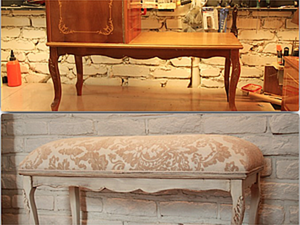 How to Upcycle a Vintage Phone Table into a Splendid Chair. Livemaster - handmade
