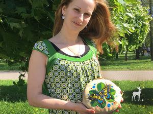 Бабочка Махаон на круглой сумочке. Ярмарка Мастеров - ручная работа, handmade.