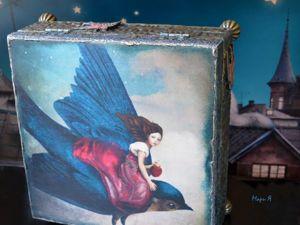 Шкатулка для украшений   «Ласточки» , Подарок девушке. Ярмарка Мастеров - ручная работа, handmade.