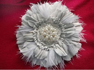Мастер-класс: брошь-цветок из кожи с пером страуса. Ярмарка Мастеров - ручная работа, handmade.