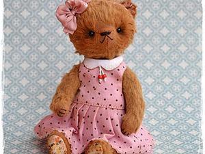 Шьем платье с воротником для мишки тедди. Ярмарка Мастеров - ручная работа, handmade.