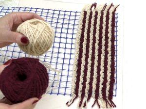 Как быстро и легко связать коврик на сетке. Ярмарка Мастеров - ручная работа, handmade.