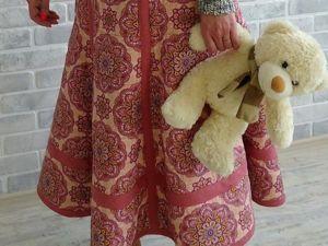 Шьем стёганую юбку из рогожки и льна. Ярмарка Мастеров - ручная работа, handmade.
