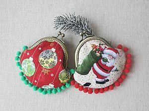 Шьем новогодний кошелёчек с фермуаром. Ярмарка Мастеров - ручная работа, handmade.