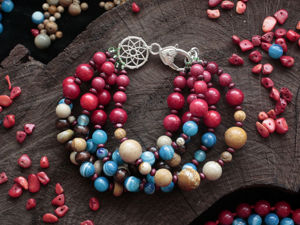 How to Assemble Multi-row Bracelet of Beads. Livemaster - handmade