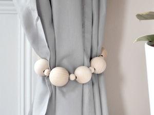 Креативно и бюджетно: подхваты для штор из подручных материалов. Ярмарка Мастеров - ручная работа, handmade.