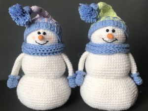 Вяжем крючком Снеговика. Ярмарка Мастеров - ручная работа, handmade.
