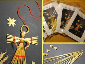 Мастерим ангелочка из соломки. Ярмарка Мастеров - ручная работа, handmade.
