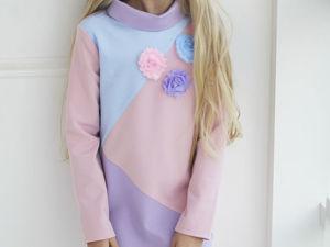 Аукцион на детское платье в спортивном стиле ! Старт 1500 руб.!!. Ярмарка Мастеров - ручная работа, handmade.