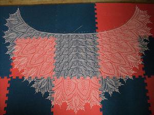 Мастер-класс: блокировка ажурной шали. Ярмарка Мастеров - ручная работа, handmade.