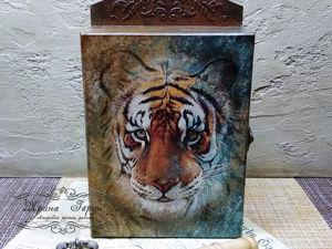 Новая работа в магазине — ключница  «Тигр». Ярмарка Мастеров - ручная работа, handmade.