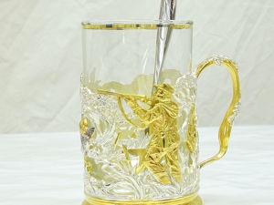 Подарочный подстаканник  «Охота на уток» . Златоуст z476. Ярмарка Мастеров - ручная работа, handmade.