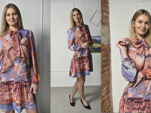 Париж . Платье с принтом, цифровая печать. Ярмарка Мастеров - ручная работа, handmade.