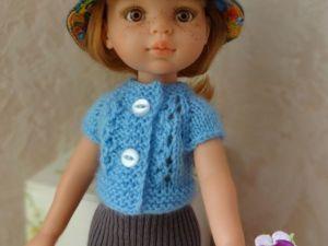Вяжем спицами кофточку для куклы. Ярмарка Мастеров - ручная работа, handmade.