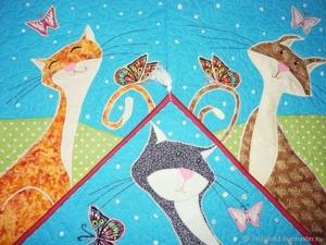 Любовный треугольник:) Лоскутное шитье на заказ!. Ярмарка Мастеров - ручная работа, handmade.