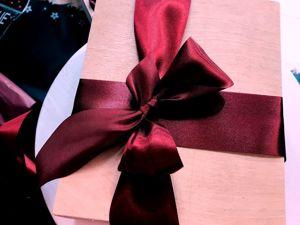 Упаковываем подарок в деревянный бокс. Ярмарка Мастеров - ручная работа, handmade.
