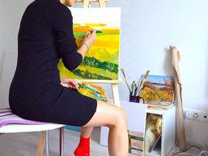 Мастер-класс: живопись маслом «Летние поля». Часть 2. Ярмарка Мастеров - ручная работа, handmade.
